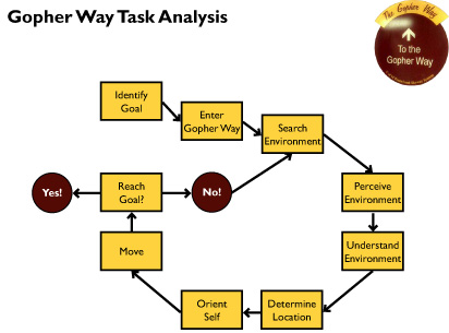 Gopher Way Task Analysis; Gaze Plot & Heat Map